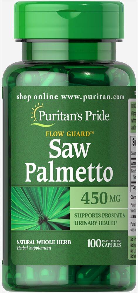 Saw Palmetto 450mg 100 cápsulas. Puritans Pride 1 und.: Amazon.es: Salud y cuidado personal