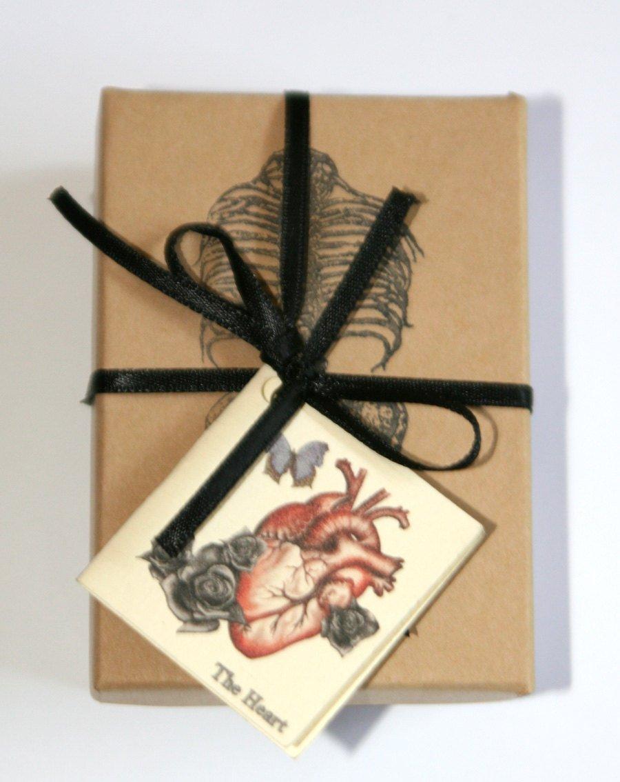 Silver Anatomical Human Heart Locket