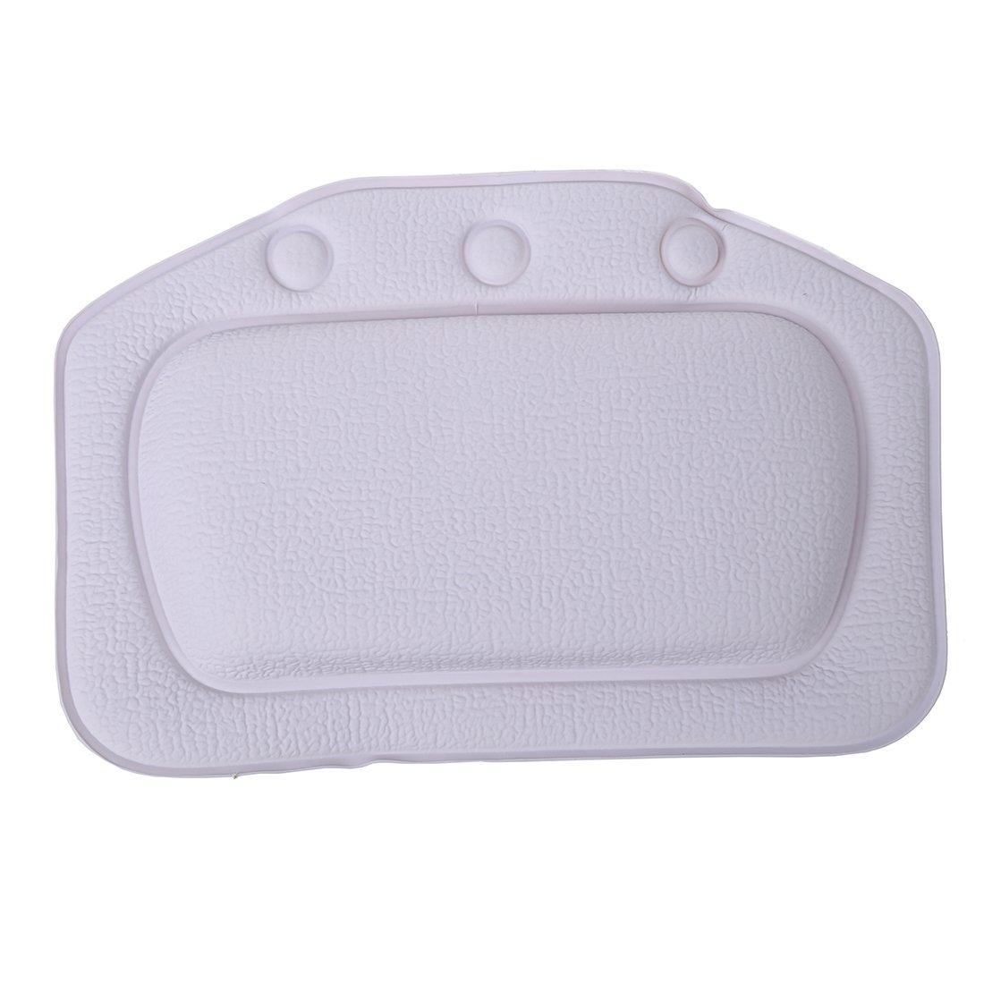 bathtub pillow - TOOGOO(R) Home & Garden Bathroom bathtub pillow bath bathtub headrest suction cup waterproof Bath Pillows Bathroom Products White 097174A5