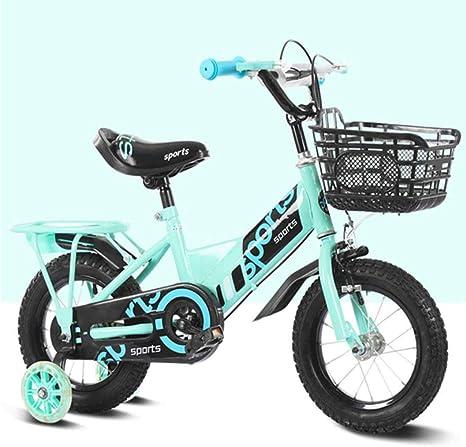 MUYU Bicicleta para niñas y niños con Ruedas auxiliares Bicicleta ...