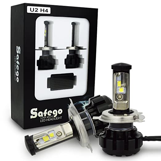 30 opinioni per Safego H4 High Low Faro Bulbi Auto LED