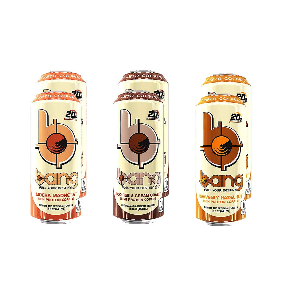 Bang Keto Coffee 15 Ounce Cans (3 Flavor Variety Pack) by Bang