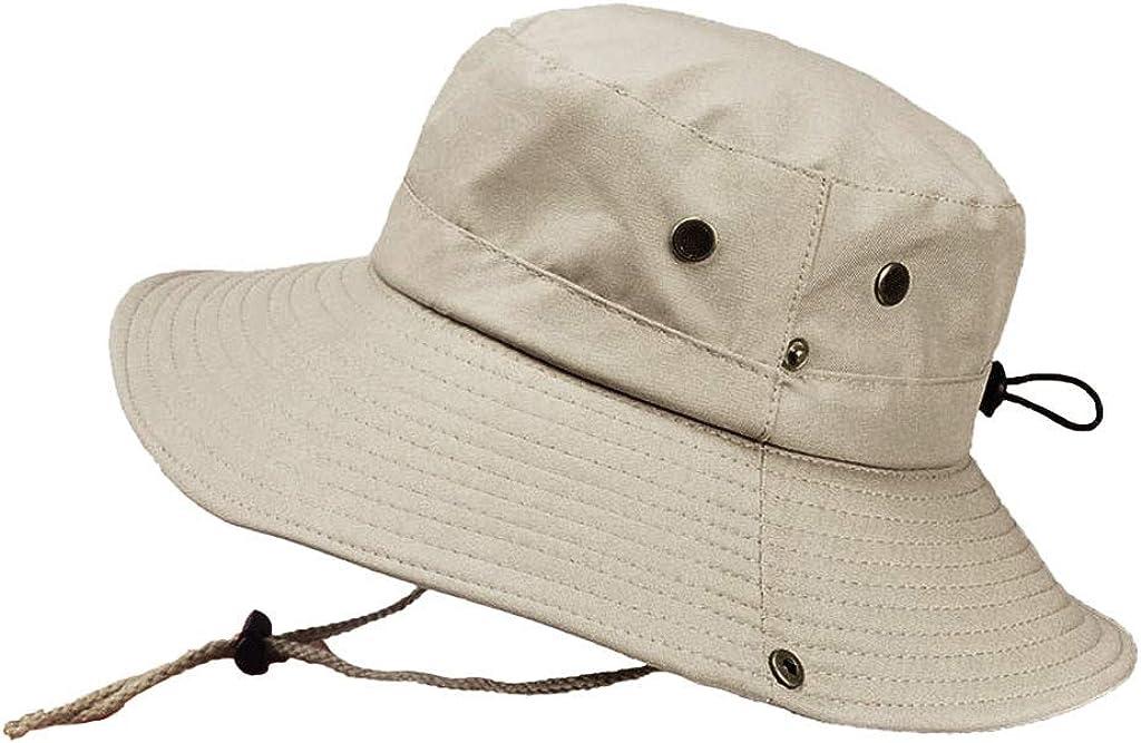 Homeofying Moda Cappello A Secchiello Cappello da Pescatore Cappello Estivo da Donna Visiera da Esterno Cappello da Sole Protezione Luv Protezione Beige Giallo