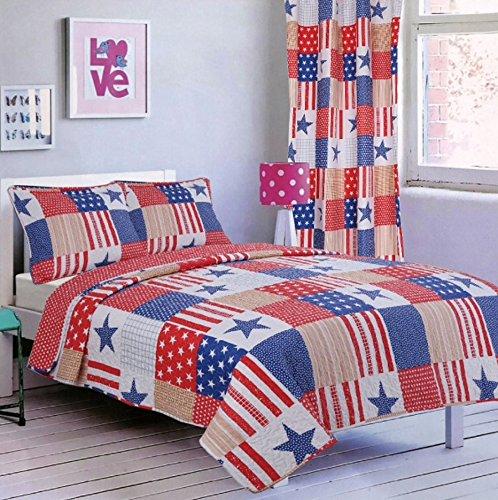 [해외]애국 소녀 컬렉션 양면 침대보 2 개 트윈/Patriotic Girls ...
