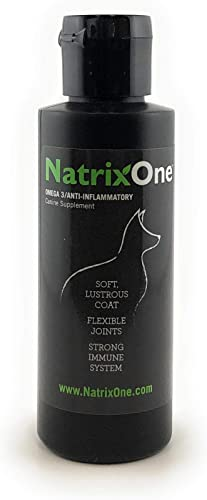 NatrixOne Omega 3 Anti-Inflammatory Plant-Based Dog Supplement for Relief from Dry Itchy Skin, Shedding, Hair Loss, Dull Coat, Joint Pain, Seasonal Allergies, Immune Brain Health, Muscle Recovery