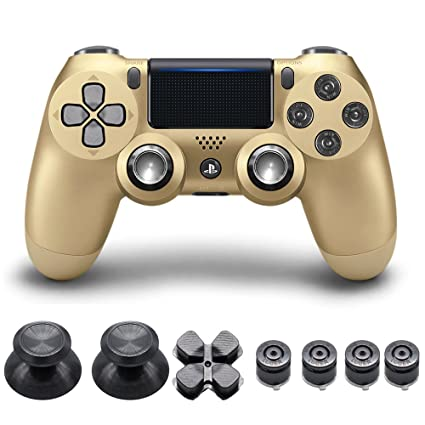 Amazon com: ElementDigital® PS4 Controller Thumbsticks Metal Bullet