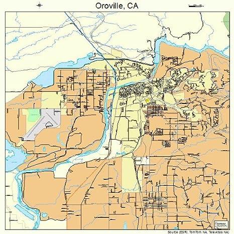 California Map Oroville.Amazon Com Large Street Road Map Of Oroville California Ca