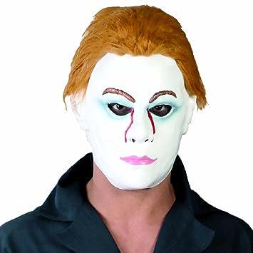Careta fantasma Jason Máscara de asesino con pelo Antifaz viernes 13 Cara de terror noche de