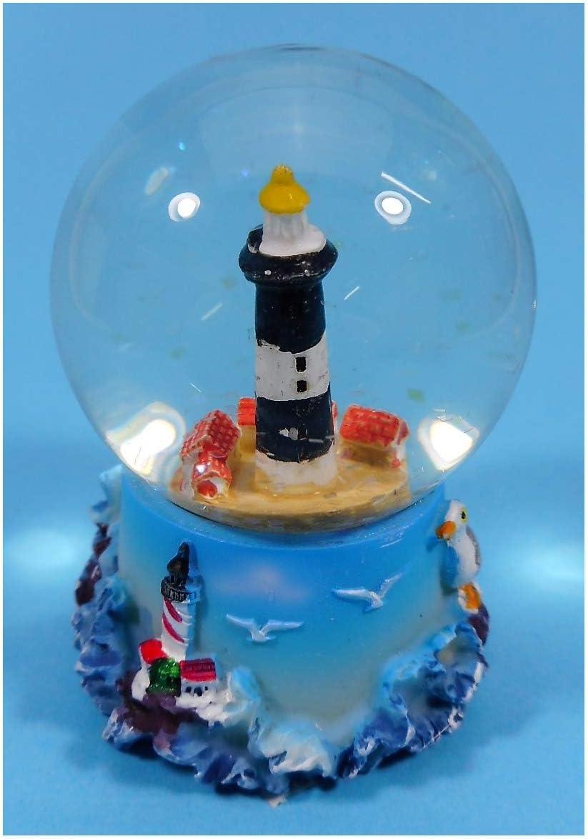 Cor 9091 B Lighthouse Shake Globe 6.5 x 5 cm Snow Globe Maritime Decoration