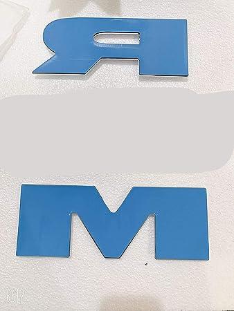 OLPAYE - Placa de identificación para puerta trasera, diseño de rebelde, color negro