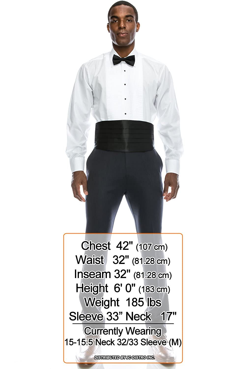JC DISTRO Mens Formal Tuxedo Shirts Collection w//Big Size Regular Fit