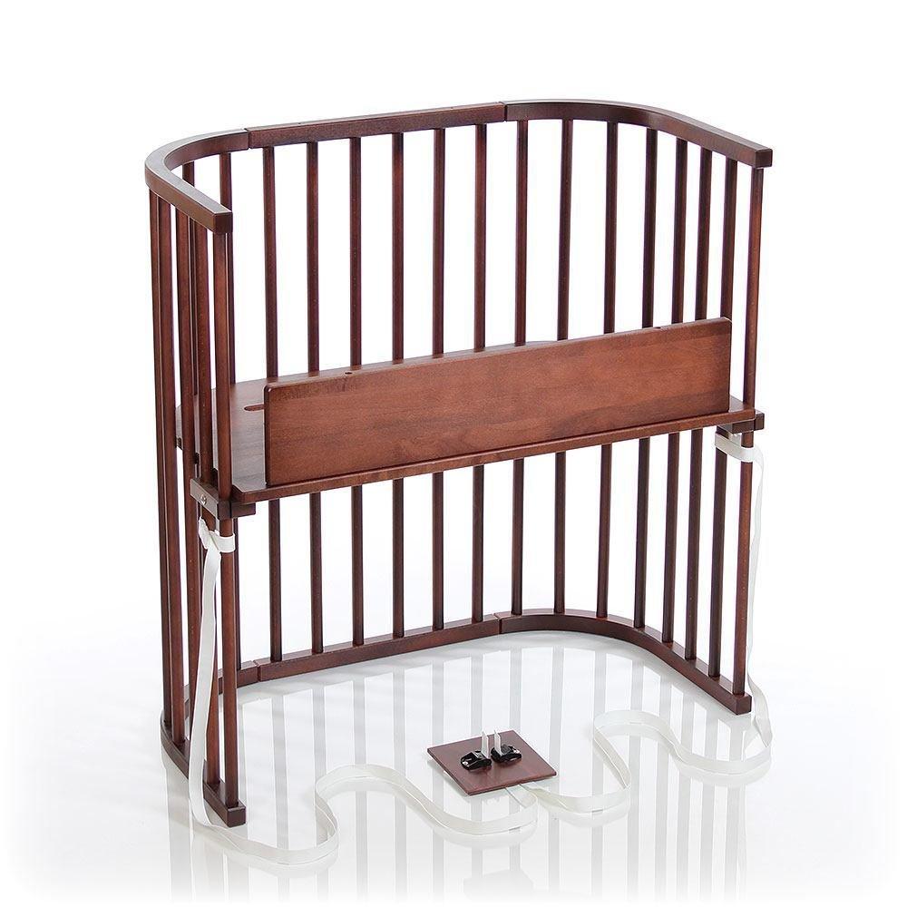 White Varnished Babybay Trend bedside sleeper Cot
