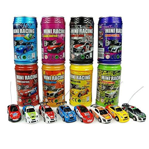 PeachFYE Multicolor Coke Can Mini Speed RC Radio Remote Control Micro Racing Car Toy Gift ()