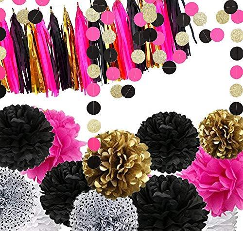Fonder Mols 29 Bachelorette Party Decorations Black and