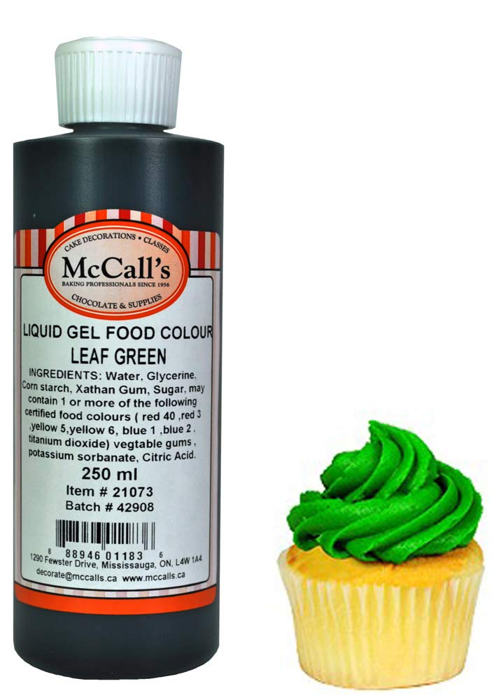 McCall\'s Gel Liquid Food Color Leaf Green 250 ml (10.5 oz ...