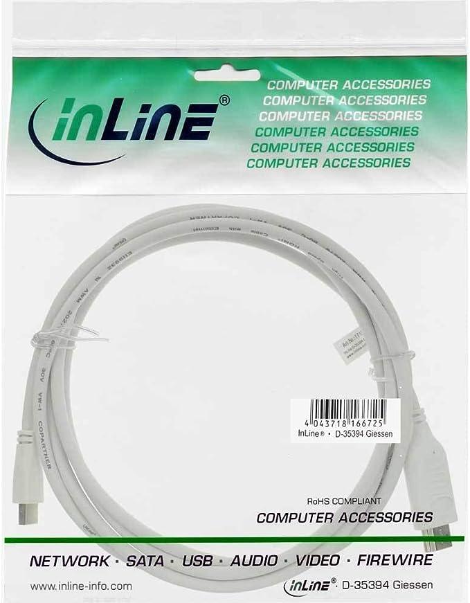 Lindy 36925 C/âble Mini DisplayPort vers HDMI 4K30 0,5 m