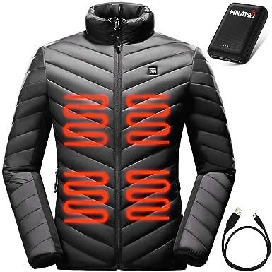 Battery Heated Clothing >> Amazon Com Havasu Windproof Heated Jacket For Men Warming Winter