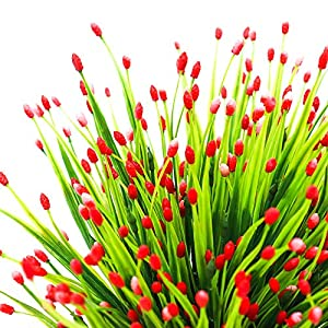 Yunuo 6PCS Mini Fruits Grasses Plants Artificial Flowers for Home Wedding Party Decor (red) 3