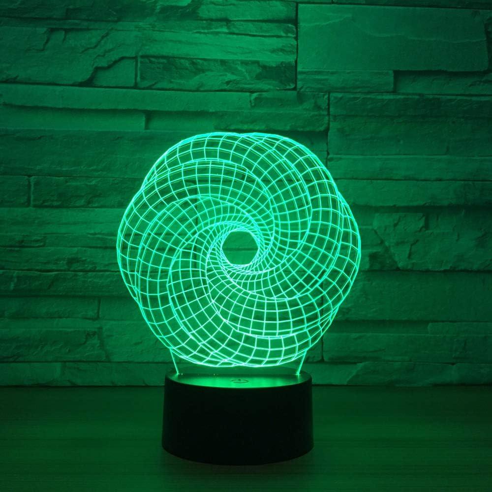 BFMBCHDJ Lámpara 3D de forma especial 7 Cambio de color ...