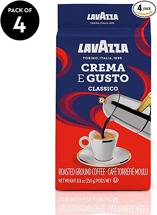 Café molido, italiano, Lavazza Crema e Gusto, bloques ...