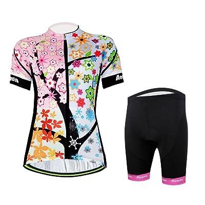 Aogda Cycling Jerseys Women BIke Biking Shirts Ladies Cycling Clothing