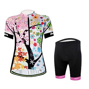 Amazon.com: Camiseta de ciclismo para mujer, para verano ...
