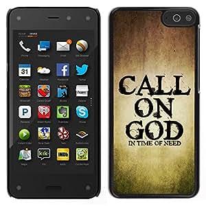 EJOY---Cubierta de la caja de protección para la piel dura ** Amazon Fire Phone ** --BIBLIA invocar a Dios