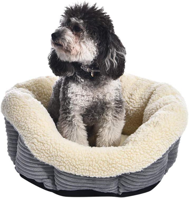 AmazonBasics - Cama para mascotas redonda y cálida, 45,7 cm