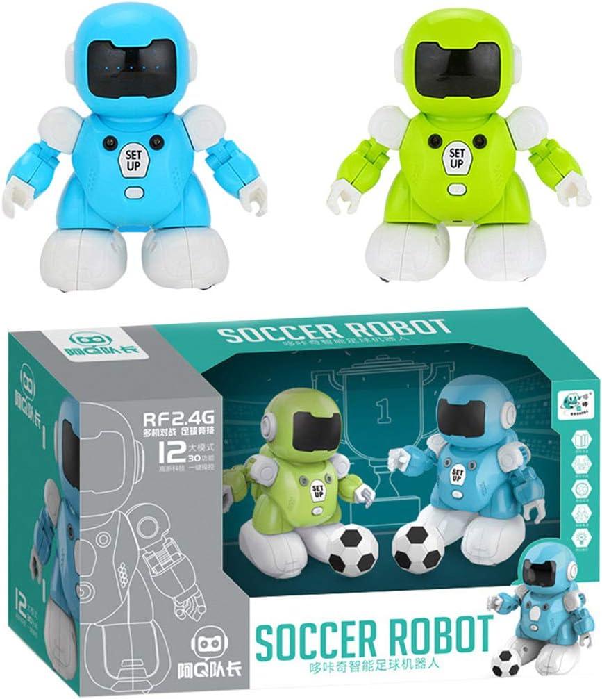 Amazon.es: AmaMary Robot de Futbol, Control Remoto Interactivo Inteligente Robot de fútbol de detección (Azul y Verde)