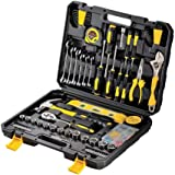 Kit de herramientas para el hogar/kit de herramientas de reparación automática, kit de herramientas de mano de 108 piezas con