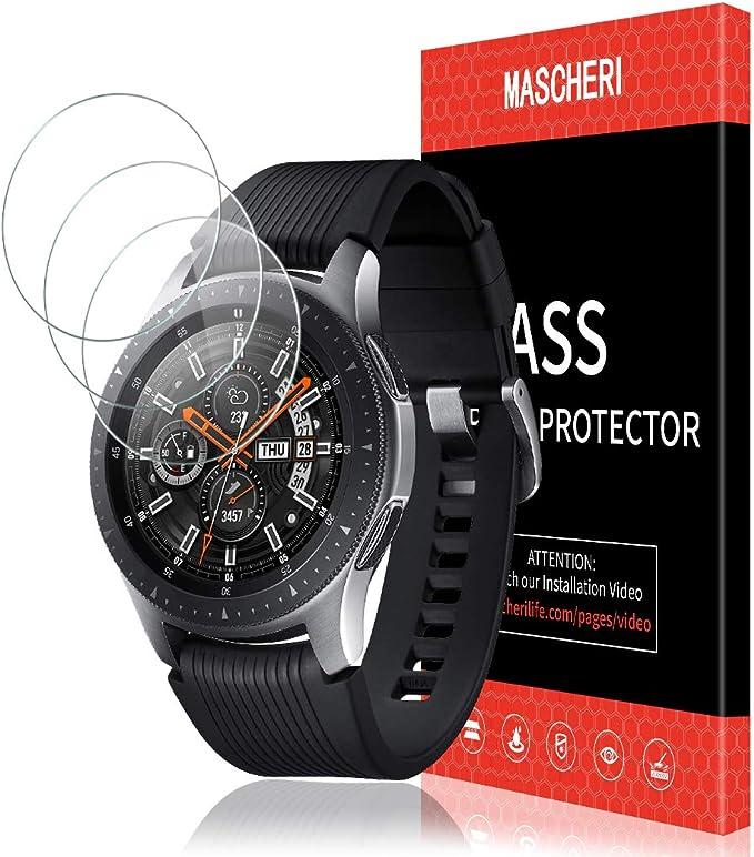 MASCHERI Protector de Pantalla para Samsung Galaxy Watch 46mm, [3 ...
