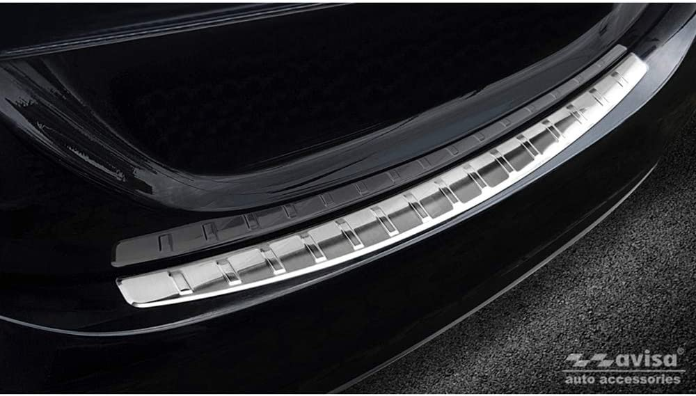 Avisa 2//13010 INOX sill Protectors Suitable for Mercedes C-Klasse W205 2014-2019 /& FL 2019-2-pieces Rear Doors
