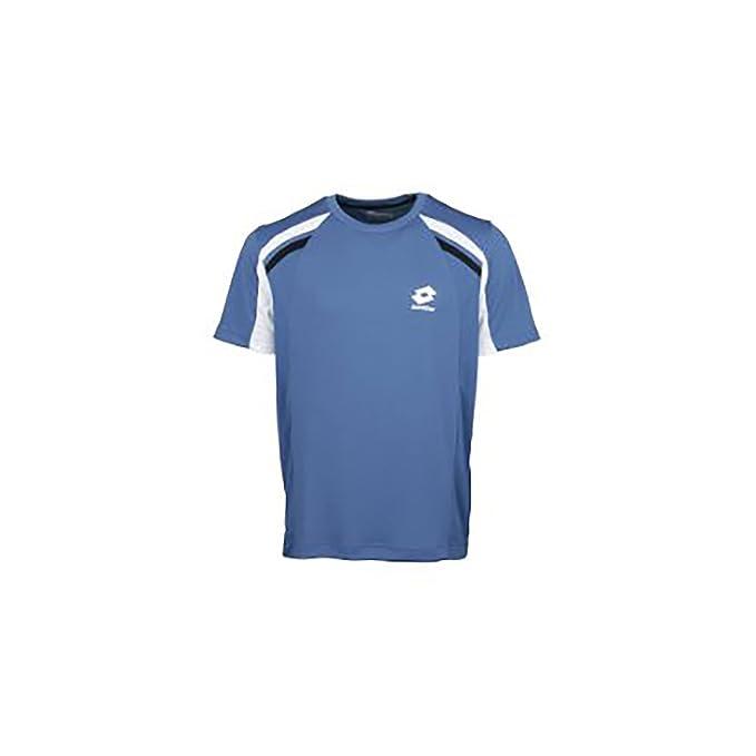 Lotto Camiseta Deportiva/Entrenamiento Transpirable de Manga Corta Para Hombre - Modelo Tenis Racquet (