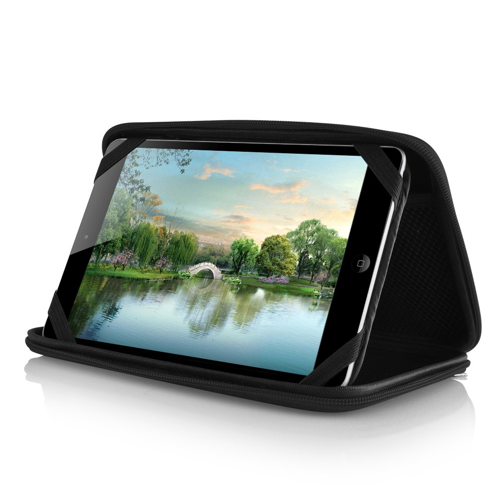schwarz iRulu 7 Inch casezilla A20/17,8/cm Mid Apad ePad Netbook Tablet Universal EVA Hartschale Folio Tablet Fall