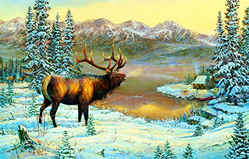 SunsOut Elk by The Cabin 1000 Piece Jigsaw Puzzle]()