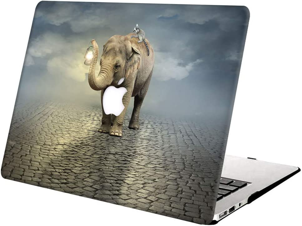 Hard Case Compatible with MacBook Pro Retina 15 inch (Model: A1398,Release 2015 - end 2012), AJYX Plastic Hard Shell Cover for Older Version MacBook Pro 15 with Retina Display - Elephant 3