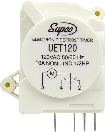 Amazon.com: Supco UET120 Refrigerator Defrost Timer Control Universal 120  Volt Electronic: Home Improvement   Ge Defrost Control Wiring Diagram      Amazon.com