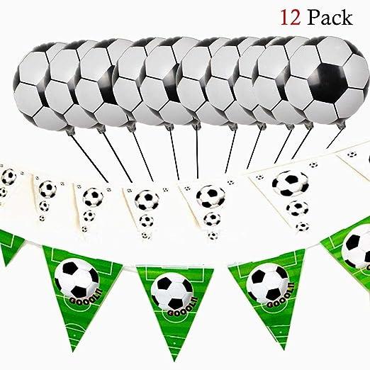 Ouken Fútbol Decoratin Conjunto con fútbol Globos y ...