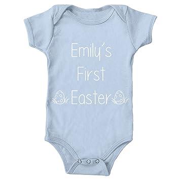 7dbcaa4ac MYOG Baby Grow - Personalised My First Easter Baby Grow Any Name ...