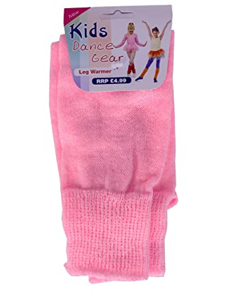 52c512b64927b Kids Childrens Girls Boys Dance Legwarmers (Plain & Striped) (Baby Pink)
