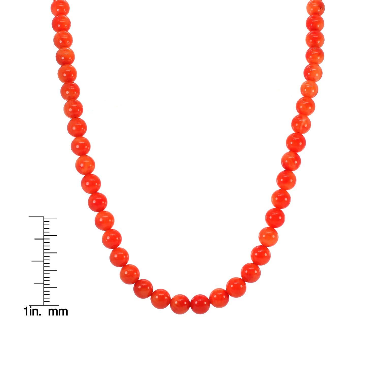 Michael Valitutti Palladium Silver Salmon Coral Bead Necklace