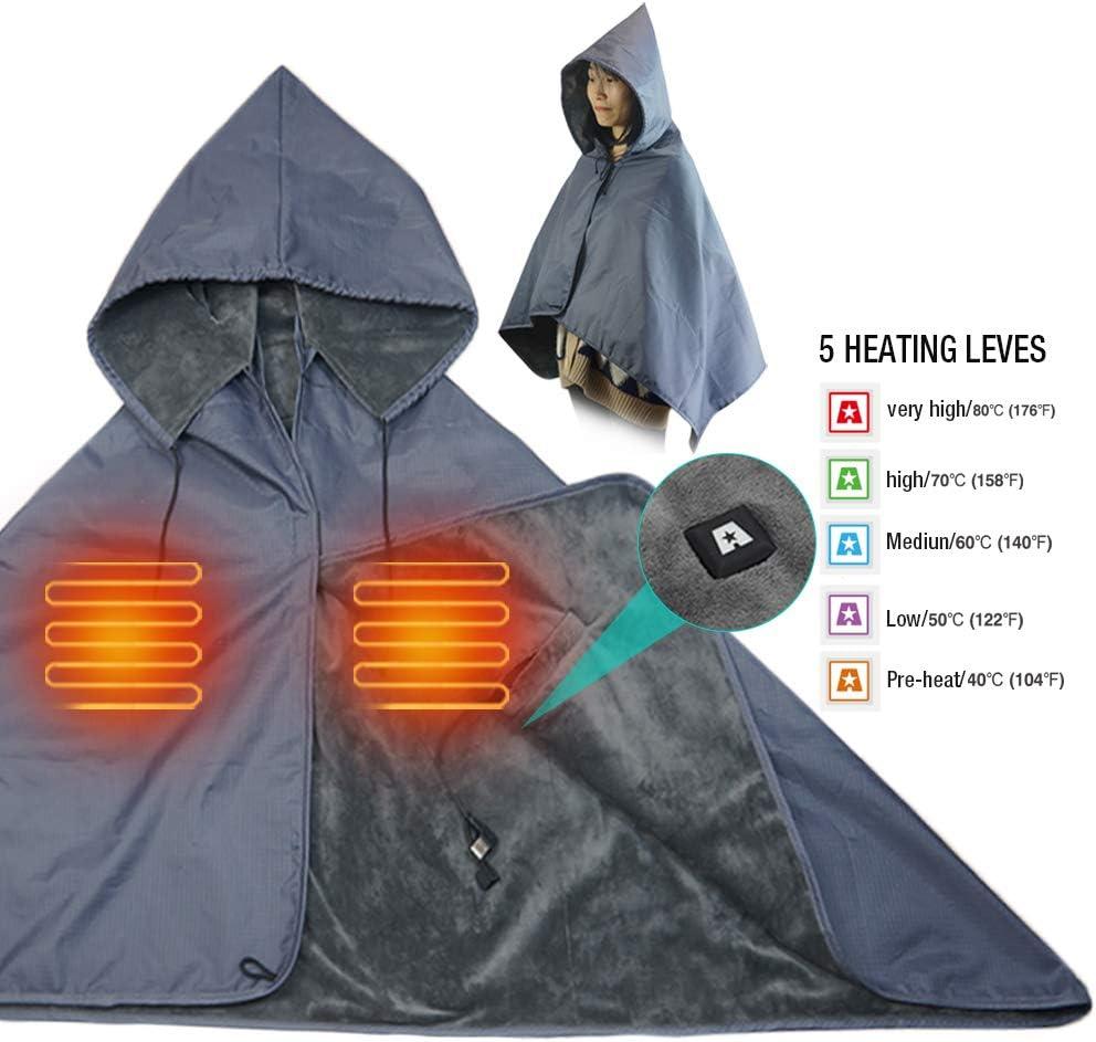 ARRIS USB Heated Blanket Portable Wearable 5V Electric Heating Blanket