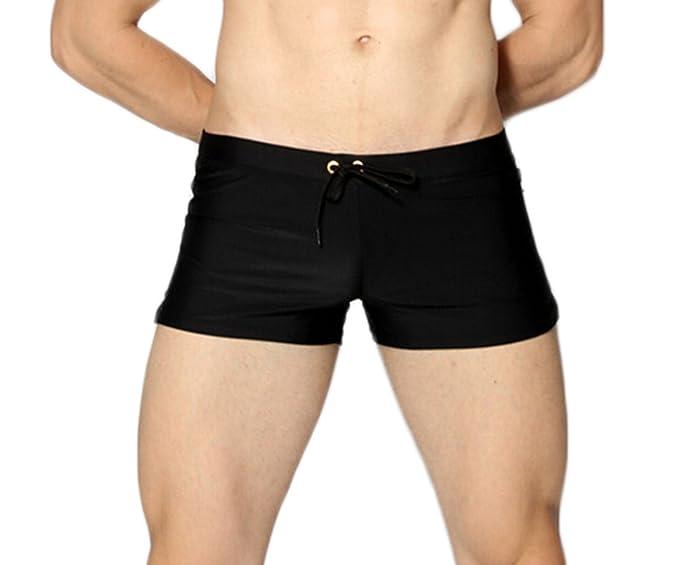 97e50ad5546 ICOOLTECH Men's Beach Quick Dry Watersports Swim Trunks Shorts Swimsuit  Boxer Briefs Underwear Board Shorts (