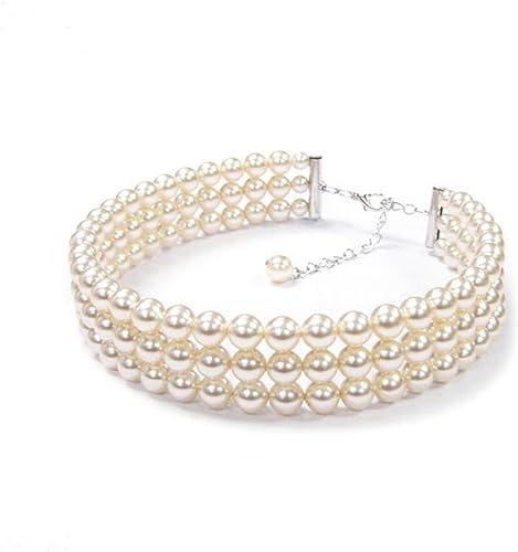 collier ras de cou perle 3 rangs