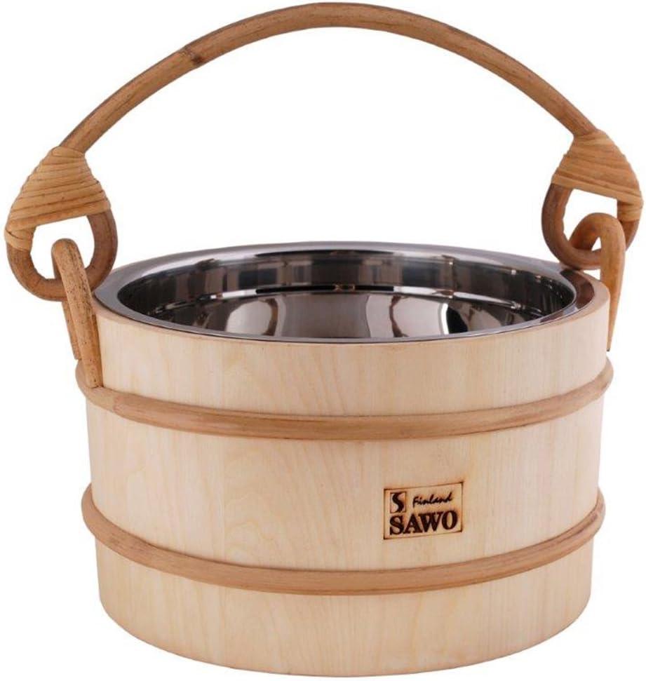 Aspen ou C/èdre; 2L 3L ou 5L SAWO Sauna Seau en bois avec insert en acier inoxydable; Pin