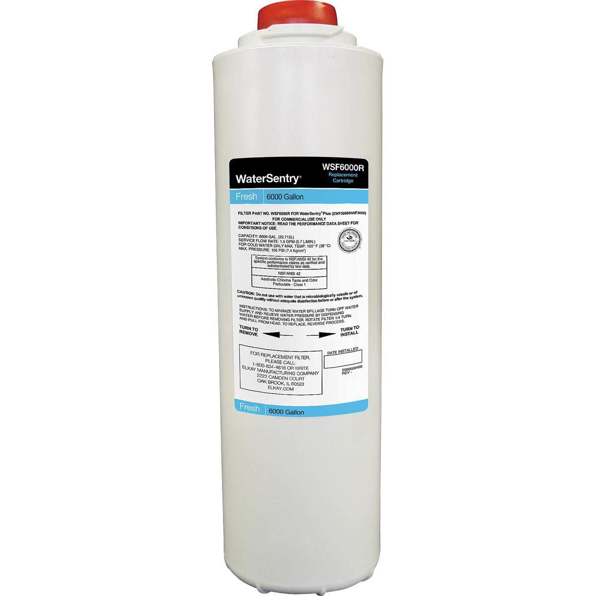Elkay WSF6000R-2PK WaterSentry Fresh 6000 CTO Filter Replacement, 2-Pack