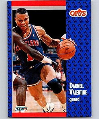 0c0fb4553 Amazon.com  1991-92 Fleer  39 Darnell Valentine Cavaliers NBA ...