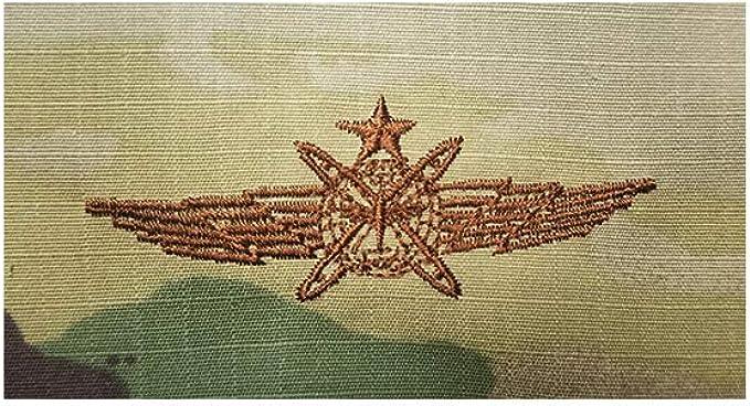 PAIR CYBERSPACE OPERATOR OCP AIR FORCE EMBROIDERED BADGE GENUINE U.S