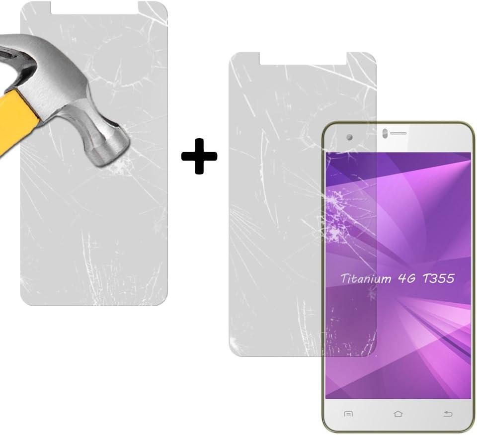 BeCool® - Pack [2 Unidades] Cristal Templado Leotec Titanium 4G ...