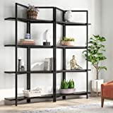 Tribesigns 71 Inches Wide Foldable 4-Tier Open Bookcases Furniture, Folding Etagere Bookshelf, Large Book Shelves for Home Ki